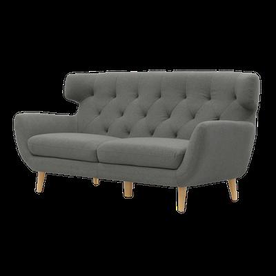 Agatha 3 Seater Sofa with Agatha Armchair - Granite - Image 2
