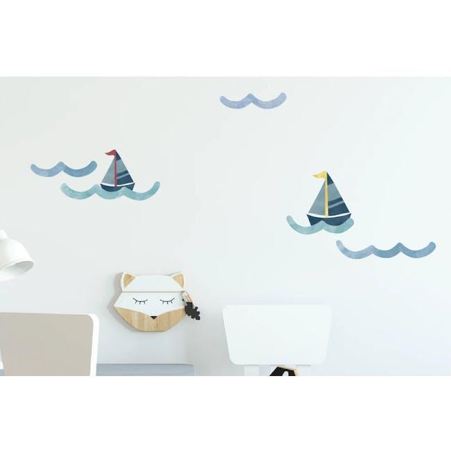 Urban Li'l Nautical Wave Fabric Decal - 0