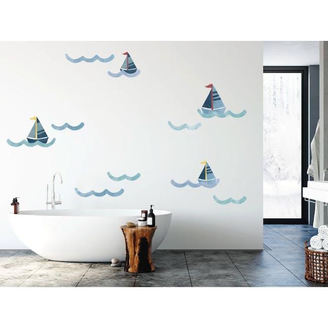 Urban Li'l Nautical Wave Fabric Decal - 1