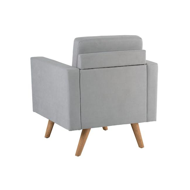 Helen 3 Seater Sofa with Helen Armchair - Silver Fox - 12