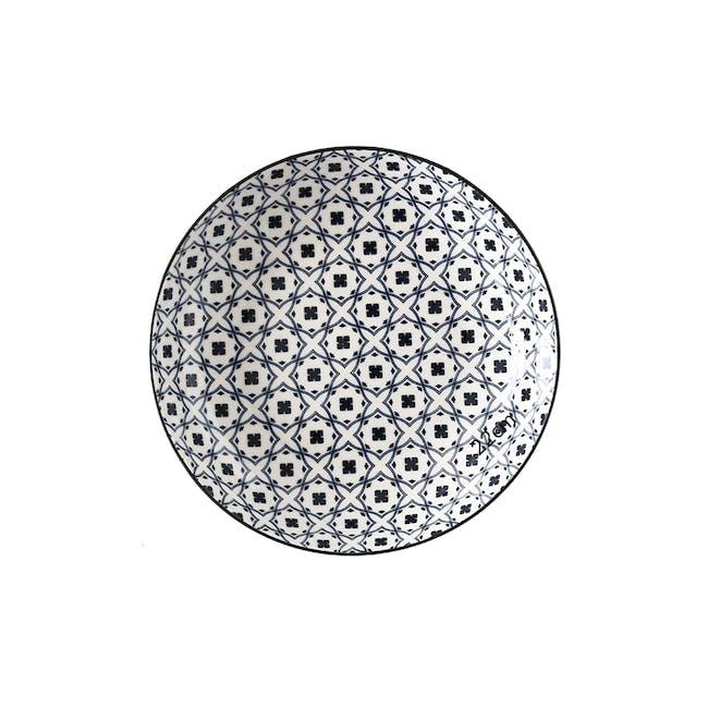 Table Matters Crisscross Blue Coupe Plate - 0