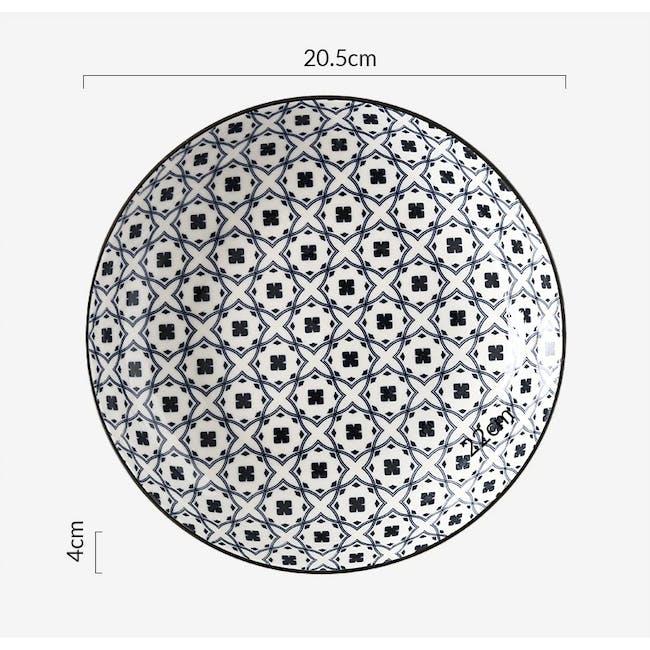 Table Matters Crisscross Blue Coupe Plate - 2