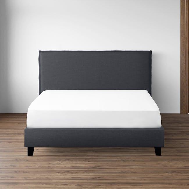 Hank Queen Bed - Hailstorm - 1