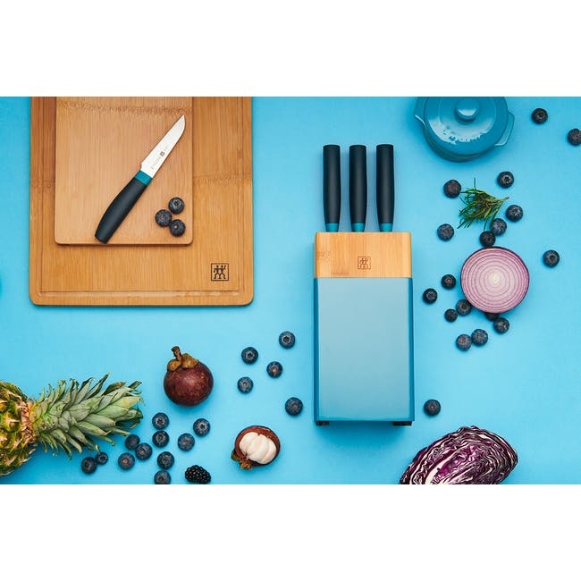 Zwilling Now S 6pc Knife Block Set - Blueberry - 1