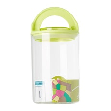 1L Glass Jar With Handle Lock Cover - Green