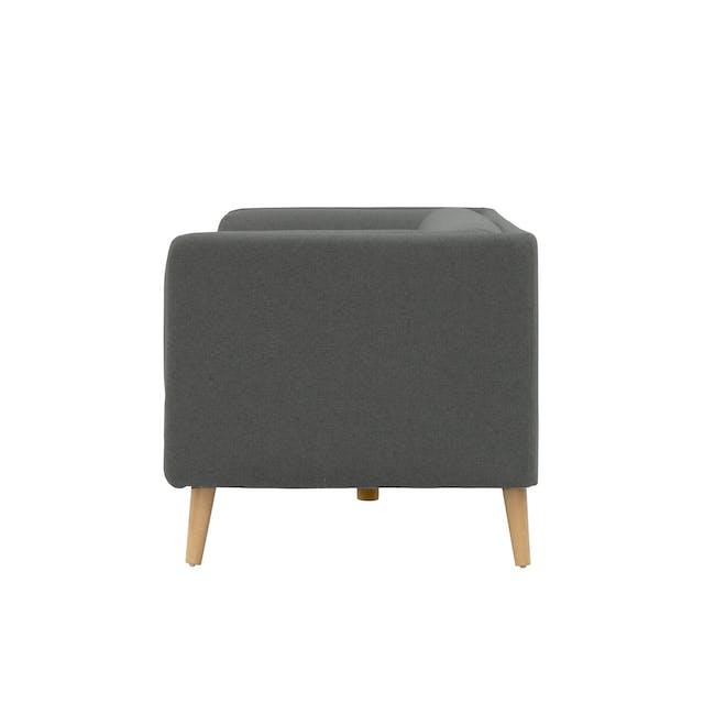 Audrey 3 Seater Sofa with Audrey 2 Seater Sofa - Granite Grey - 3