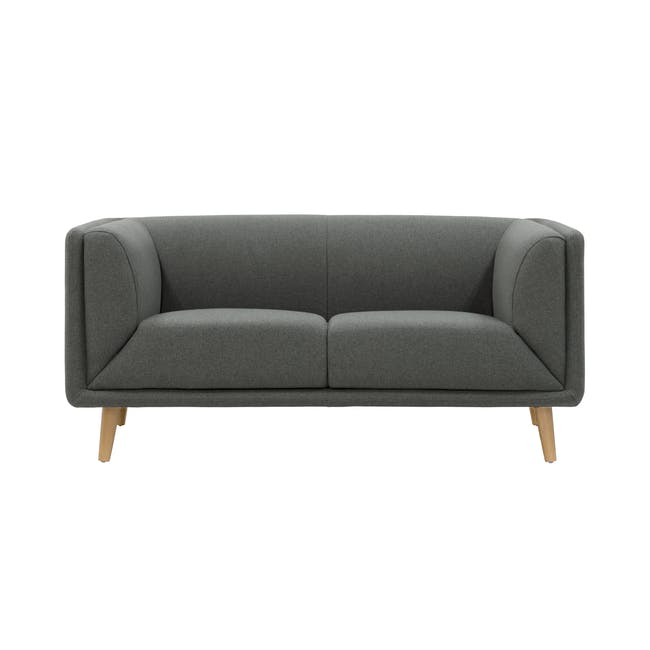 Audrey 2 Seater Sofa with Audrey Armchair - Granite - 5