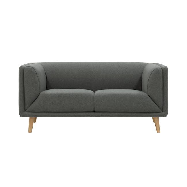 Audrey 2 Seater Sofa - Granite Grey - 0
