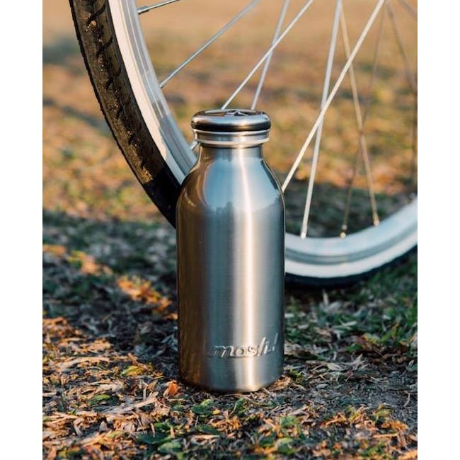MOSH! Double-walled Stainless Steel Bottle 450ml -  Silver - 1