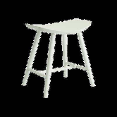 Philana Stool - White Lacquered - Image 1
