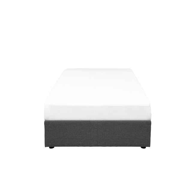 ESSENTIALS Single Box Bed - Smoke (Fabric) - 0
