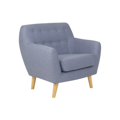 Emma 1 Seater Sofa - Blue - Image 2