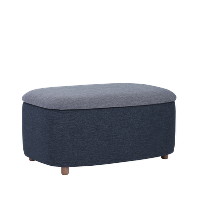 Galio Large Storage Pouf - Midnight Blue - Image 1