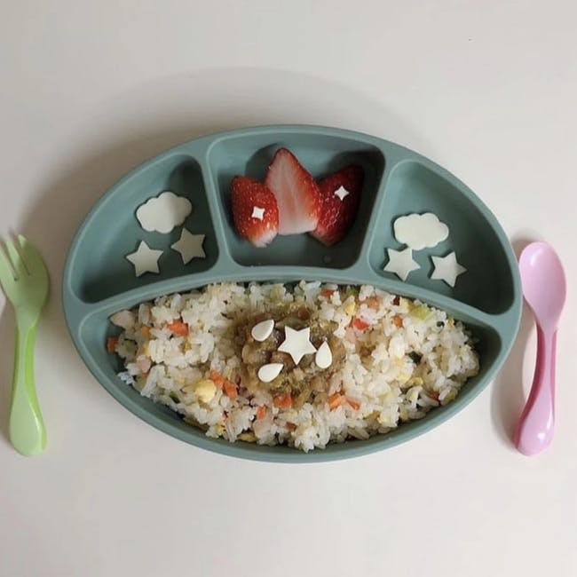 MODU'I Silicone Suction Plates - Green Bean - 6