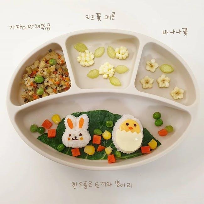 MODU'I Silicone Suction Plates - Green Bean - 5