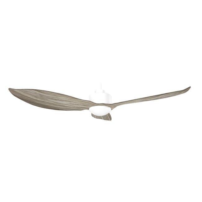 F3FC White Bamboo Grain Decor Fan (2 Sizes) - 1