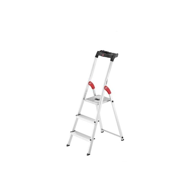 Hailo Aluminium 3 Step Ladder (2 Step Sizes) - 0