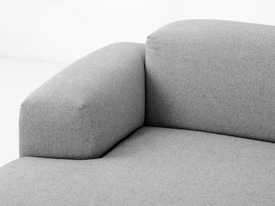 Flex 4 Seater L Shape Sofa - Squirrel Grey - Image 2