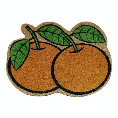 Mandarin Oranges Coir Door Mat - Image 1