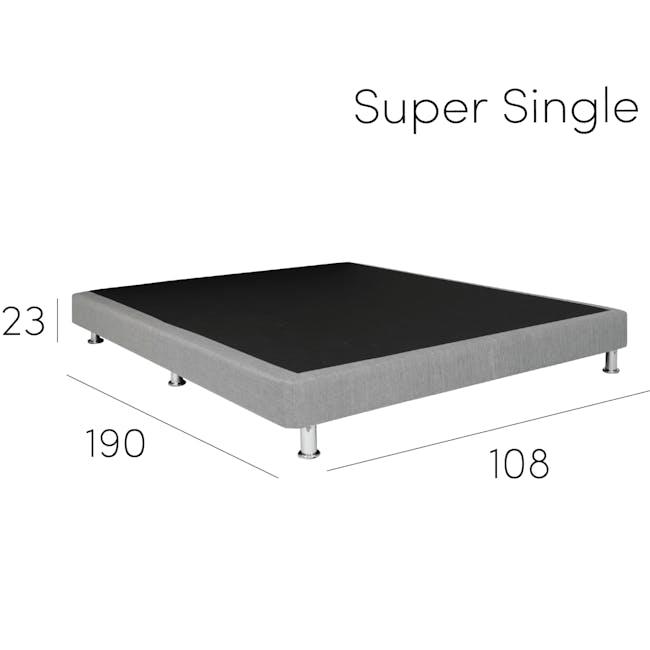 ESSENTIALS Queen Divan Bed - Black (Faux Leather) - 11