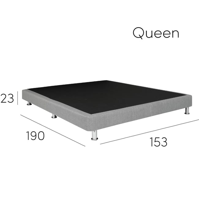 ESSENTIALS Queen Divan Bed - Black (Faux Leather) - 8