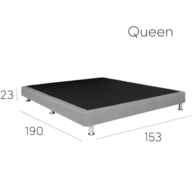 ESSENTIALS Super Single Divan Bed - Black (Faux Leather) - 8
