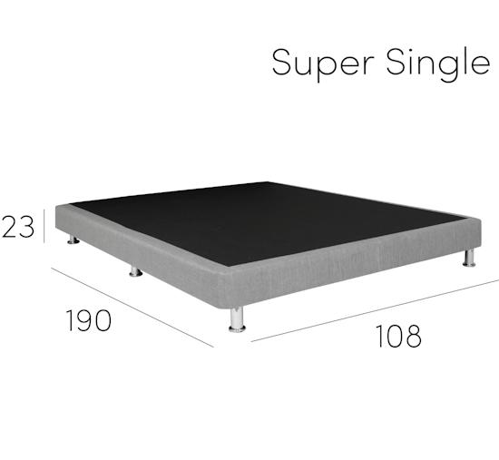 Beds By Hipvan Essentials Divan Bed Black Faux Leather 4 Sizes
