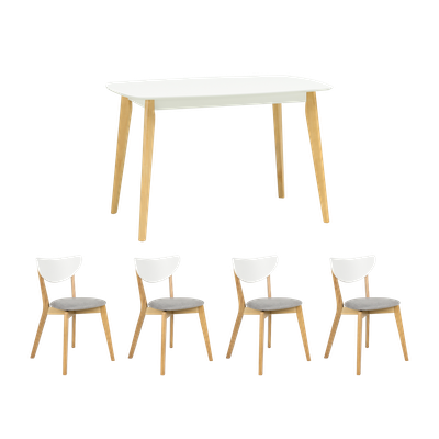 Harold Dining Table 1.2m with 4 Harold Dining Chairs - Image 1