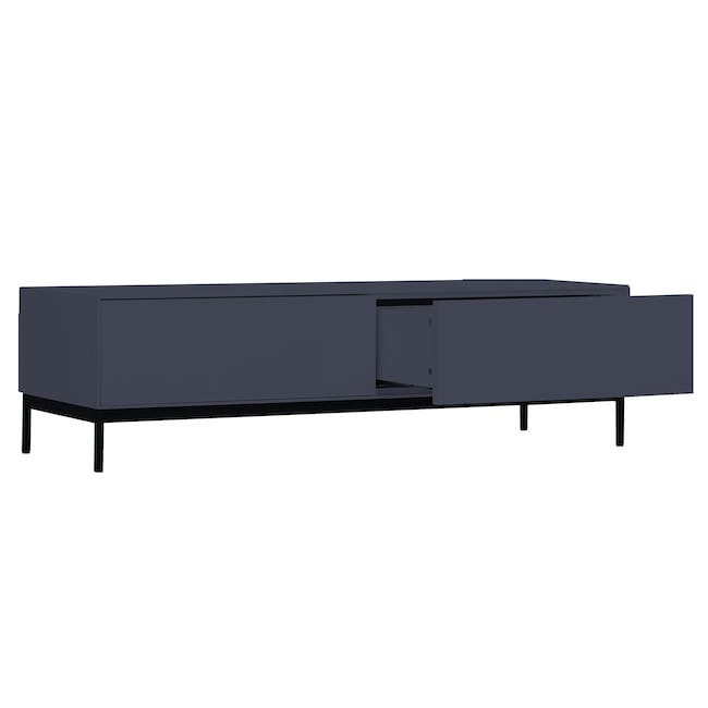 Lamont TV Console 1.2m in Grey with Dana Rectangular Coffee Table in Walnut - 3