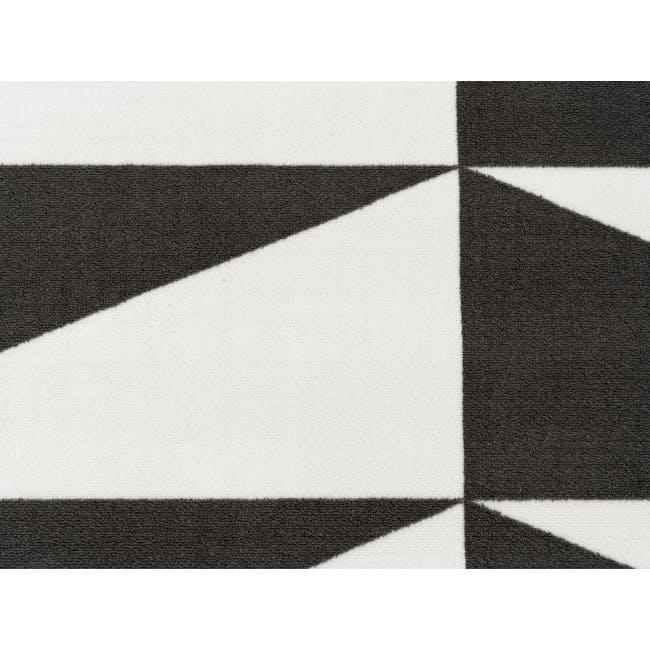 Liam Low Pile Rug 2.3m x 1.6m - Monochrome - 1