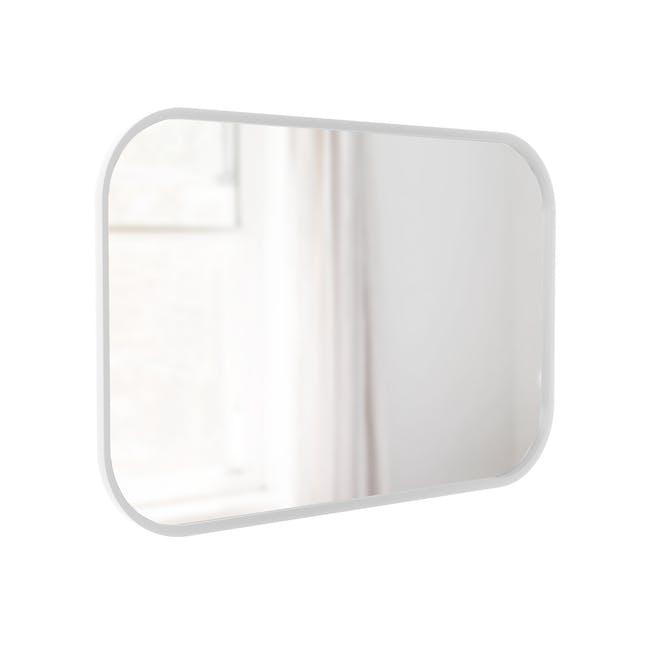 Hub Rectangle Mirror 61 x 91 cm - White - 3