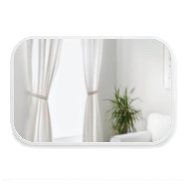Hub Rectangle Mirror 61 x 91 cm - White - 1