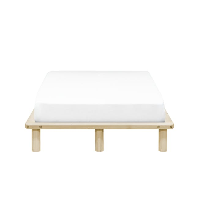 Hiro Super Single Platform Bed with 1 Dallas Bedside Table - 1