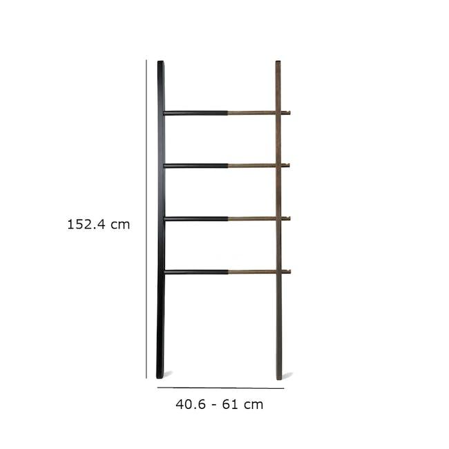Hub Ladder - Black, Walnut - 5