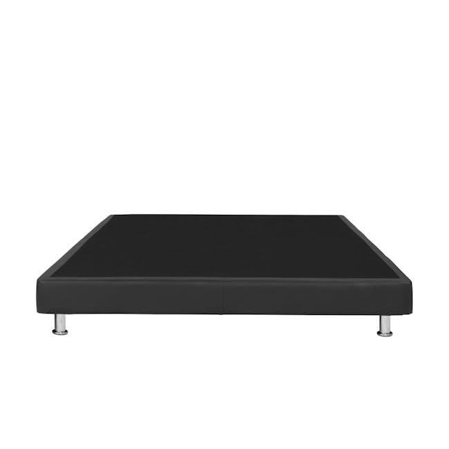 ESSENTIALS Queen Divan Bed - Black (Faux Leather) - 1