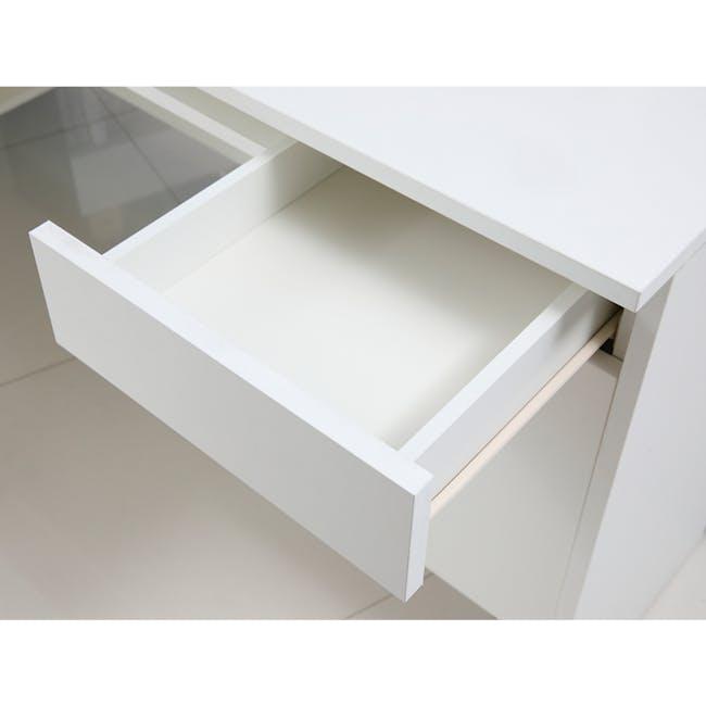 Leon Corner Study Table 1.6m - Black White - 9