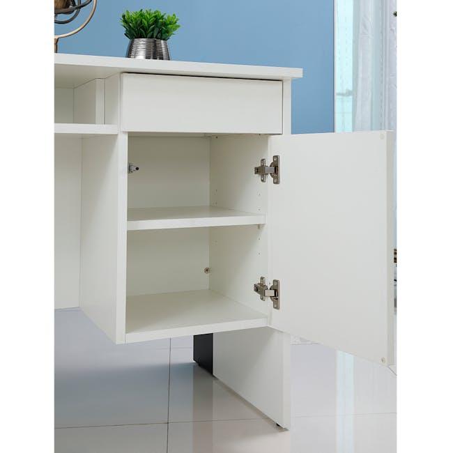 Leon Corner Study Table 1.6m - Black White - 8