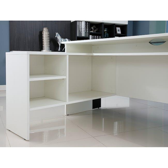 Leon Corner Study Table 1.6m - Black White - 7