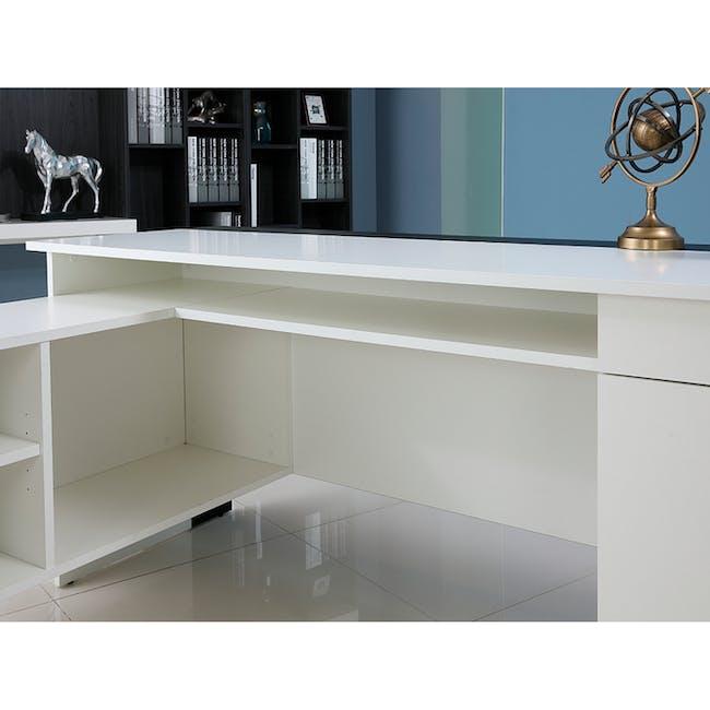 Leon Corner Study Table 1.6m - Black White - 6