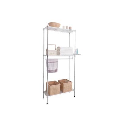 3-Tier Multi Utility Shelf L75 cm - Chrome - Image 2