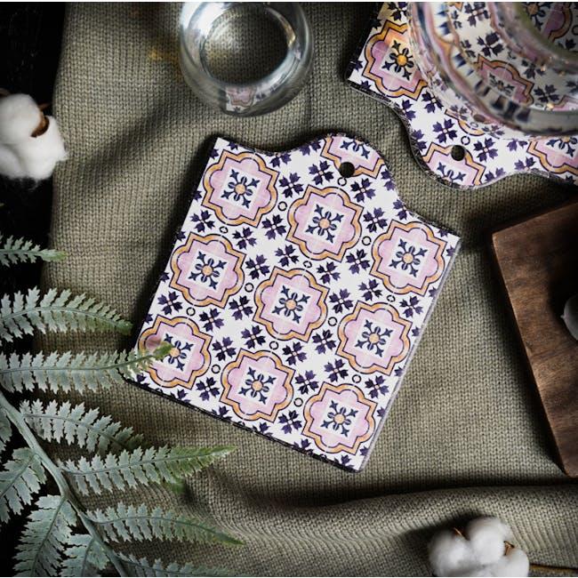 Peranakan Ceramic Pot Coaster - Esme - 1