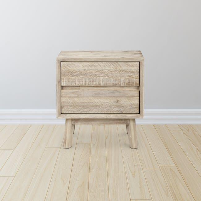 Leland Twin Drawer Bedside Table - 1