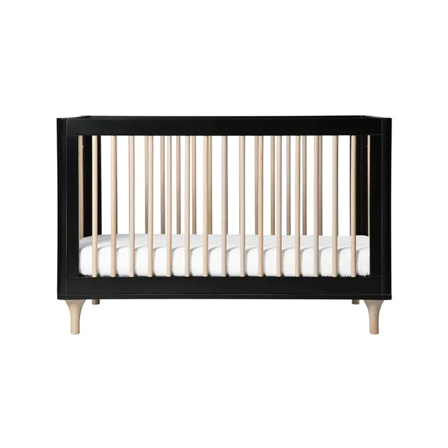 Babyletto Lolly 3-in-1 Convertible Crib - Black & Washed - 0