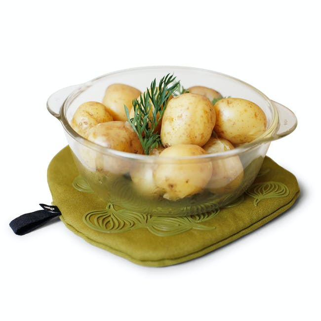 Bosign 3-IN-1 Potholder & Trivet Non Slip - Olive Green - 3