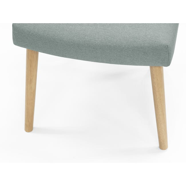 Roden Dining Table 1.8m in Natural with 4 Miranda Chairs in Sea Green and Pink - 12
