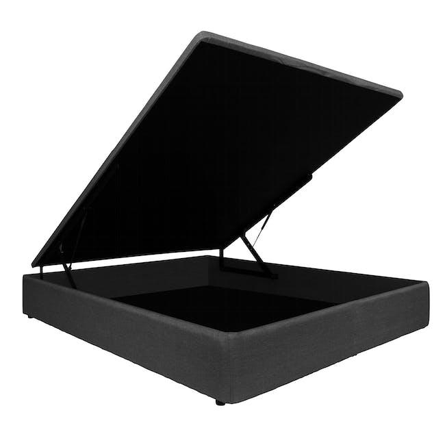 ESSENTIALS Super Single Storage Bed - Smoke (Fabric) - 2