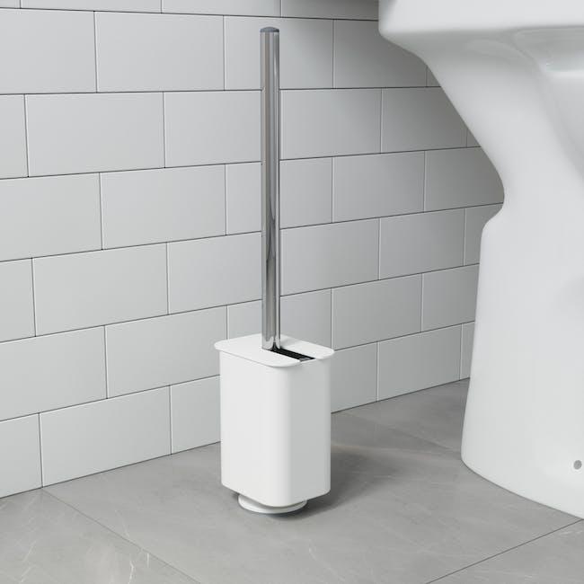 Flex Gel-Lock Toilet Brush Holder - White - 5