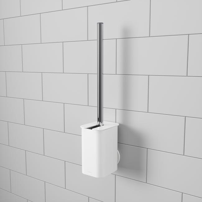 Flex Gel-Lock Toilet Brush Holder - White - 6