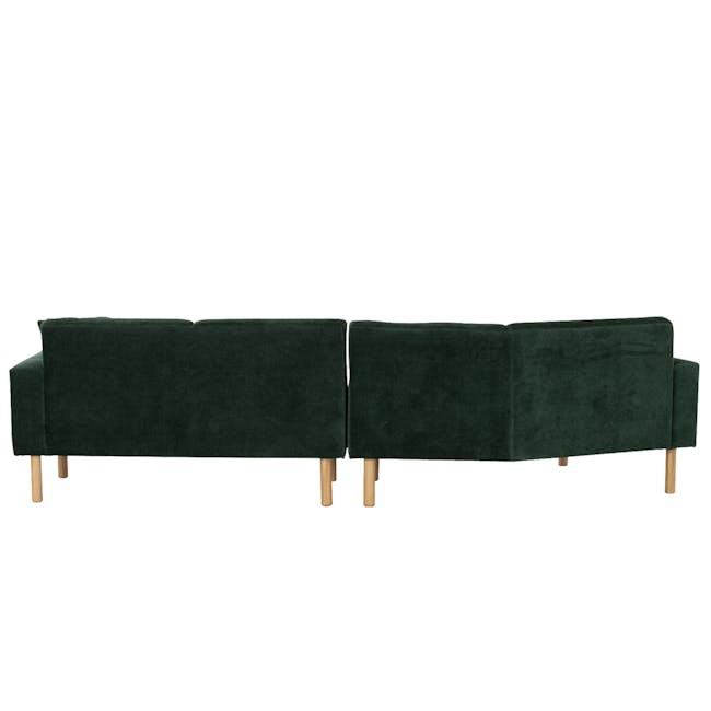 Hugo 4 Seater Angled Sofa - Dark Green (Eco Fabric) - 3
