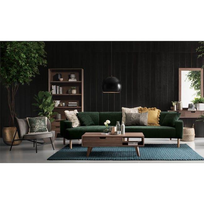 Hugo 4 Seater Angled Sofa - Dark Green (Eco Fabric) - 2